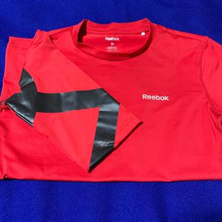 リーボック(Reebok)のリーボック Reebok  レディース・トレーニングシャツ赤(トレーニング用品)