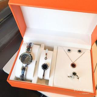 ブルガリ(BVLGARI)のBVLGARI腕時計 ネックレス ブレスレット ピアス 指輪 5点セット(腕時計)