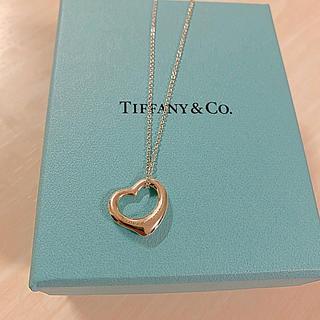 ティファニー(Tiffany & Co.)のTiffany& Co. ネックレス オープンハートネックレス(ネックレス)