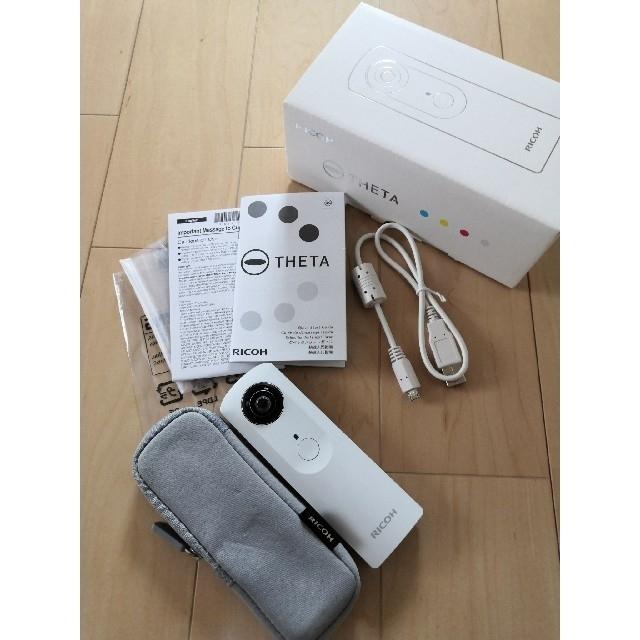 RICOH(リコー)の【値下しました】RICOH THETA m15 ホワイト スマホ/家電/カメラのカメラ(コンパクトデジタルカメラ)の商品写真