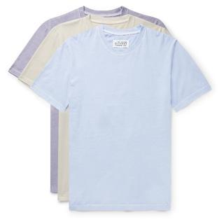 マルタンマルジェラ(Maison Martin Margiela)の新品 メゾンマルジェラ Stereotype 水色 3パック Tシャツ M(Tシャツ/カットソー(半袖/袖なし))