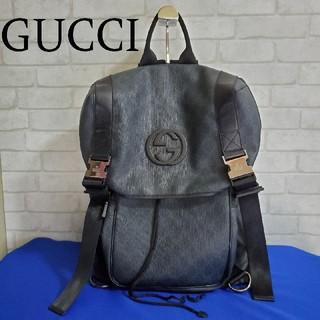 グッチ(Gucci)のGUCCI グッチ PVCレザーバックパック リュックサック(バッグパック/リュック)