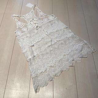 ラグナムーン(LagunaMoon)のチュニック 新品 ラグナムーン 編み編み (チュニック)