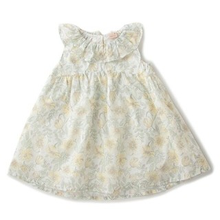 petit main - 新品 プティマイン 花柄フリル衿ワンピース