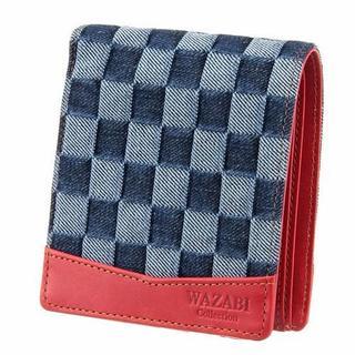 【新品】WAZABI 2つ折財布 デニム ウォレット(折り財布)