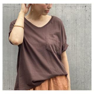 ドゥーズィエムクラス(DEUXIEME CLASSE)の新品未使用 SKARGORN ポケツキワイド Tシャツ ブラウン(Tシャツ(半袖/袖なし))