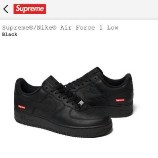 シュプリーム(Supreme)のSupreme?/Nike? Air Force 1 Low 26.5cm 黒(スニーカー)