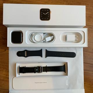 アップルウォッチ(Apple Watch)のApple Watch series5 ゴールドステンレススチールケース44mm(スマートフォン本体)