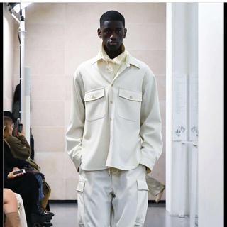 ワンエルディーケーセレクト(1LDK SELECT)のauralee wool max shirts white(シャツ)