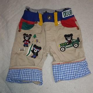 ダブルビー(DOUBLE.B)の美品 ミキハウス ダブルビー くま 豪華パンツ パンツ 半ズボン 100(パンツ/スパッツ)