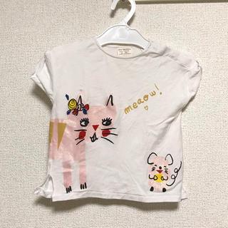 ザラ(ZARA)の★ZARA★ラメ入りイラストTシャツ 86(Tシャツ)
