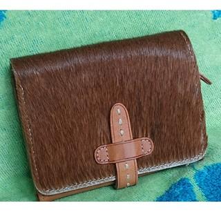cotone コットーネ 二つ折り財布 ハラコ 牛革(折り財布)