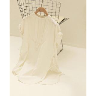 トゥデイフル(TODAYFUL)のtodayful ハーフスリーブドレスシャツ ホワイト 新品タグ付(シャツ/ブラウス(半袖/袖なし))