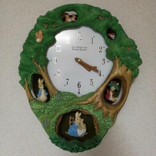 ピーターラビット 掛け時計