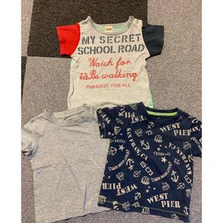 ベベ(BeBe)のTシャツ 3枚セット 90cm 80cm 男の子 ベベ BeBe 西松屋 半袖(Tシャツ/カットソー)