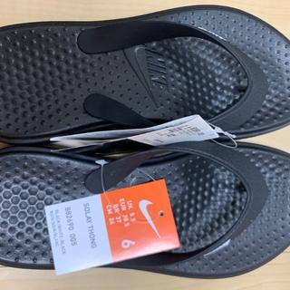 ナイキ(NIKE)の24.0cm NIKE ナイキ レディースビーチサンダル 黒 ソレイソング 黒(ビーチサンダル)