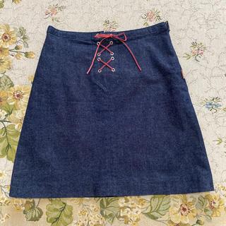 バーバリーブルーレーベル(BURBERRY BLUE LABEL)のバーバリーブルーレーベル 36号デニムスカート(ミニスカート)