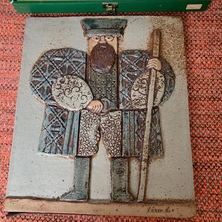 リサラーソン(Lisa Larson)のリサラーソン  ヴィンテージ  超レア✨✨箱付き 陶板(置物)