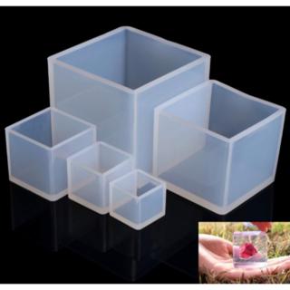 シリコンモールド型 正方形 立方体 5個セット 20/25/35/50/65(型紙/パターン)