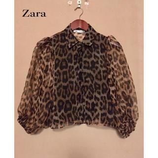 ZARA - 豹柄ブラウス