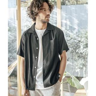 ワンエルディーケーセレクト(1LDK SELECT)のアンゲネーム  オープンカラーシャツ 新品未使用 ブラックM(シャツ)