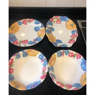 フランフラン(Francfranc)のフランフラン お皿 サラダボウル セット ブルー系 割れないメラミン素材(食器)