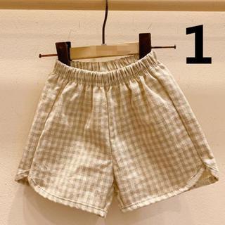 子供服チェック短パン(新品未使用)