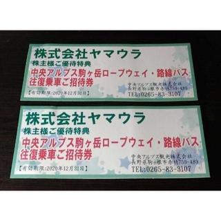中央アルプス駒ケ岳ロープウェイ、路線バス往復乗車券 2枚分(その他)
