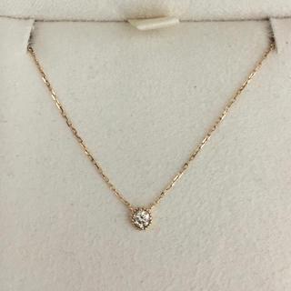 アガット(agete)のagete アガット フリル ダイヤモンド ネックレス K18YG 0.07ct(ネックレス)