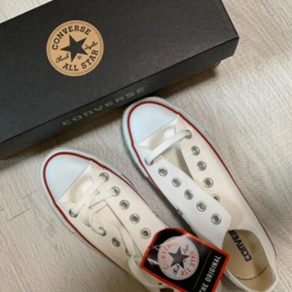 CONVERSE - コンバース スニーカー 白 converse 24.5cm 靴 新品未使用