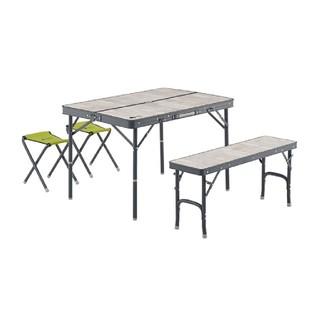 LOGOS - 【ロゴス】キャンプ用ファミリーベンチテーブルセット