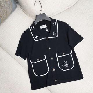 CHANEL - 刺繍ロングラペルスカート レディース半袖Tシャツ36
