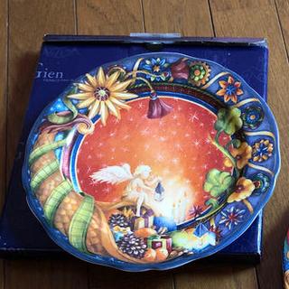 フランフラン(Francfranc)のジアン クリスマスプレート デザート皿 2002と2004 ペアセット お菓子柄(食器)