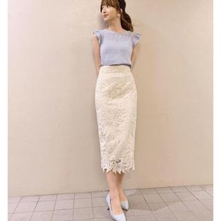 MERCURYDUO - リーフ柄レースタイトスカート