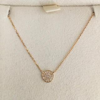 アガット(agete)のagete アガット ダイヤモンド ネックレス K18YG 0.04ct(ネックレス)