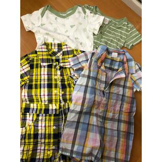 babyGAP - GAPベビー服半袖ロンパース4点セット80センチ