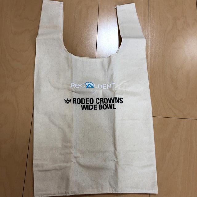 RODEO CROWNS WIDE BOWL(ロデオクラウンズワイドボウル)のロデオクラウンズ ×リカルデント エコバッグ  レディースのバッグ(エコバッグ)の商品写真