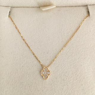 アガット(agete)のagete アガット ダイヤモンド パヴェ ネックレス K18YG 0.04ct(ネックレス)