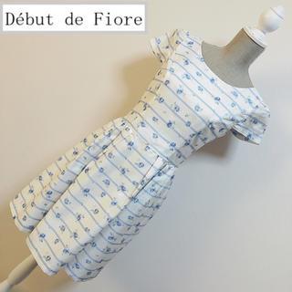 Debut de Fiore - デビュードフィオレ フラワーワンピース ローズ ブルー