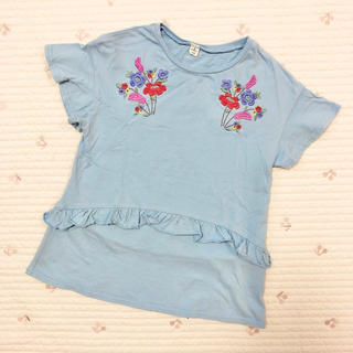 エフオーキッズ(F.O.KIDS)のアプレレクール 刺繍フリルチュニック(Tシャツ/カットソー)