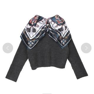 Ameri VINTAGE - 最終価格【新品タグ付き】アメリビンテージ scarf collar knit