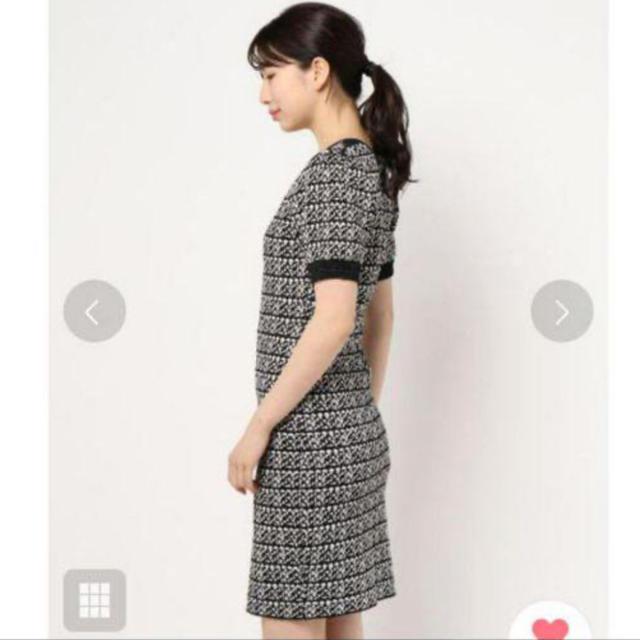 rienda(リエンダ)のリエンダ 新品 ツイードニットワンピース レディースのワンピース(ミニワンピース)の商品写真