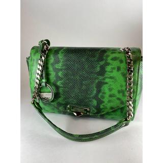 ヴェルサーチ(VERSACE)のヴェルサーチ コレクション チェーンハンドバッグ  グリーン ヘビ型押しレザー(ハンドバッグ)