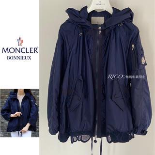 MONCLER - 【正規品・美品】モンクレール BONNIEUX レース付き ブルゾン ネイビー