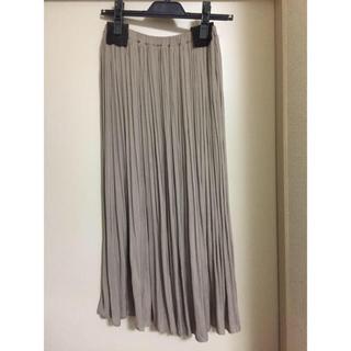 スピックアンドスパン(Spick and Span)の2019SS  スピックアンドスパン  ナイルサテンプリーツスカート(ロングスカート)
