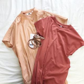 ユニクロ(UNIQLO)のお得なセット🍋新品 肌馴染みの良いカラーのワンピース3点セット 1万円分(ロングワンピース/マキシワンピース)