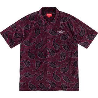 シュプリーム(Supreme)のsupreme paisley velour s/s shirt S (シャツ)