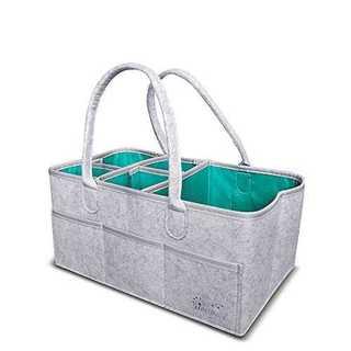 グレー耐水仕様ダイパーストッカー ベービーアイテムストレージバッグ おもちゃ小物(ベビーおむつバッグ)