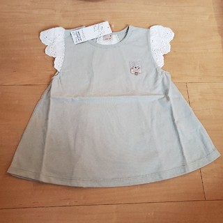 petit main - プティマイン 猫レースTシャツ 120 新品