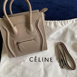 celine - 【美品】celine ラゲージ ナノショッパー 2way ショルダーバッグ